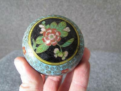 ANTIQUE CHINESE CLOISONNE TRINKET or JEWELRY RING BOX