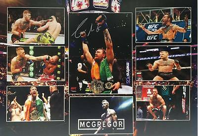 CONOR THE NOTORIOUS McGREGOR SIGNED FRAMED COLLAGE UFC FEATHERWEIGHT CHAMPION