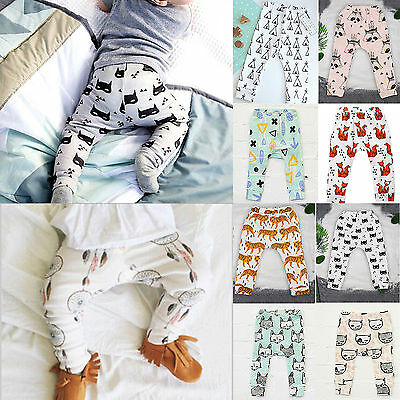 Cute Toddler Baby Girls Boys Harem PP Pants Casual Leggings Bottom Trousers 0-4Y