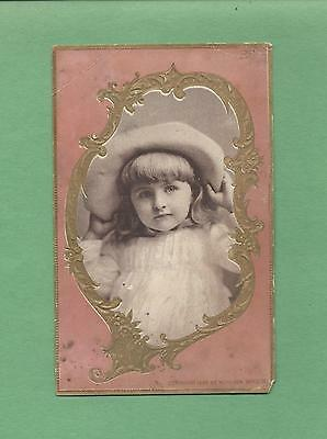 Adorable GIRL Wears Lovely HAT On WOOLSON SPICE CO. 1895 Victorian Trade Card
