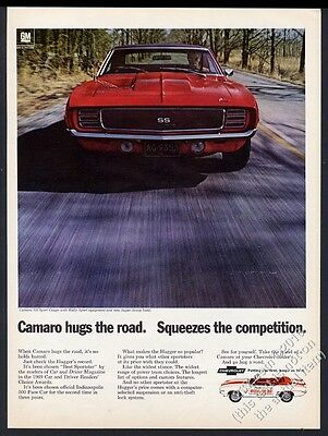 1969 Camaro SS RS red Rally Sport car photo Chevrolet Chevy vintage print ad
