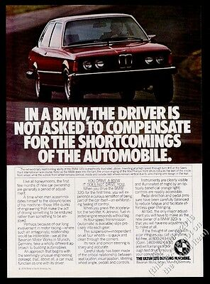 1979 BMW 320i red car photo vintage print ad
