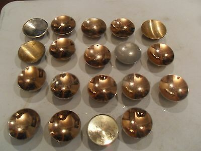"Vintage Lot of 19 Chrome 2"" Round Drawer Pulls Cabinet Door Cupboard Handles"