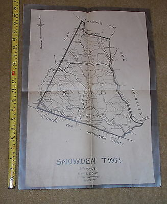 Snowden Twp Township 3 Precincts Pennsylvania Pittsburg Coal Railroad Map Police