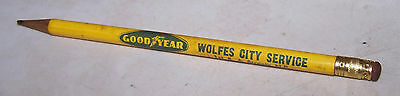 Vintage WOLFES CITY SERVICE Goodyear Tires Pencil LINTON INDIANA