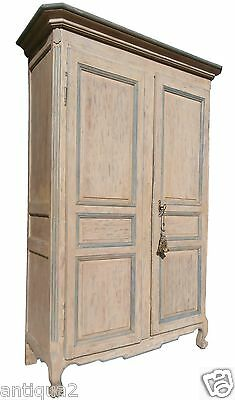 Period 18Th Century French Louis Xv Painted Armoire Cabinet Entertainment Center