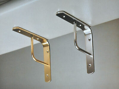 Imof shelf brackets per team 25 cm brass polished for shelves shelf