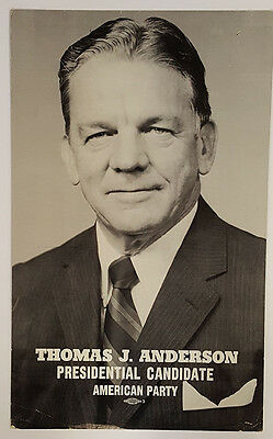 1976 American Party Candidate Thomas Anderson Poster
