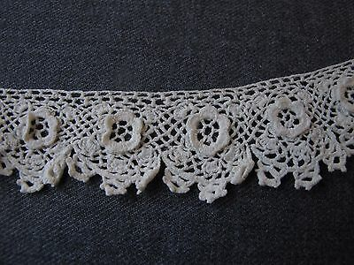 Antique Victorian Flowers Irish Crochet Lace Trim Edging