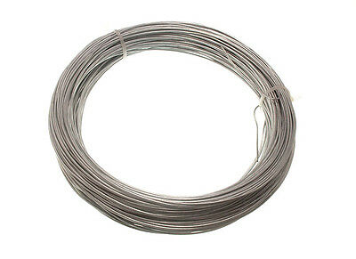 Galvanised Garden Fence Wire - 1.25 Mm 50 Metres Single Roll 500G In Weight