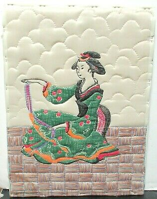 Old Japanese Girl Embroidery Tapestry Painting