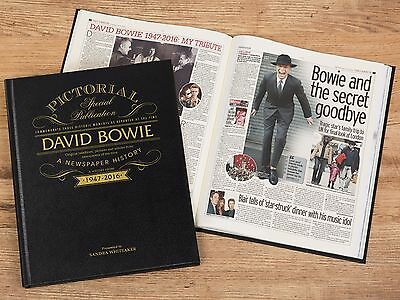 Personalised David Bowie Pictorial Edition Newspaper Book in Gift Box
