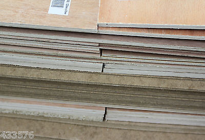MDF Chipboard Plywood Hardboard Sheets 600 x 200/220 mm New Sheets Bargain £££
