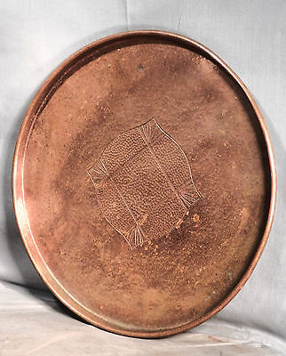 Vintage Modern Jugendstil Arts Crafts Germany Hammered COPPER WMF Cocktail Tray