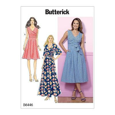 Butterick Sewing Pattern Misses' Dress & Sash Size 6 - 22 B6446