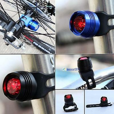 Led Bike Bicycle Cycling Front Rear Tail Helmet Safe Flash Light Warning Lamp BO