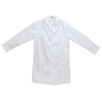 2 Pieces Lab Coat Hygiene Food Industry Warehouse Laboratory Doctor Medical Coat