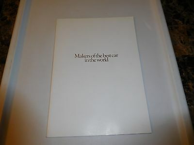 """ROLLS-ROYCE """"Makers of the Best Car in The World"""" Booklet - 1982"""