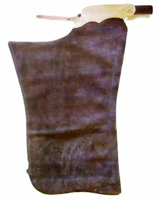 B Bar B Western Chaps Adult Shotgun Latigo Basic XL Brown 05-05-0099