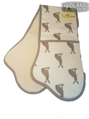 Genuine AGA Hare Double Oven Gloves.