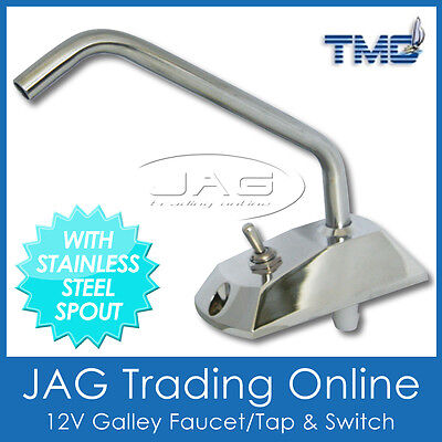 12V TMC FAUCET TAP WITH SWITCH for Water Galley Pump - Boat/Caravan/Motorhome/RV