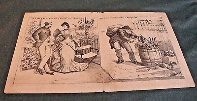 Victorian Folded Trade Card For Domestic Sewing Machine Co