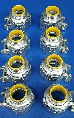 """(8) 3/4"""" RACO HUBBELL Electrical Conduit Compression Connector Fittings"""