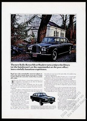 1967 Rolls Royce Silver Shadow 2-door and 4 Pound Ridge NY Library photo ad