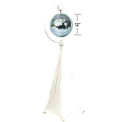 "Eliminator Decor MBSK Motorized Mirror Ball Stand w Scrim & ADJ 12"" Mirror Ball"