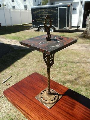 Gorgeous Antique Victorian Silent Butler Marble Top Stand