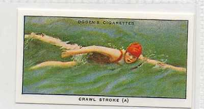 #17 crawl stroke (a) illustrating poise swimming r card