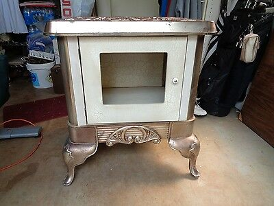 Antique Stove Turned Into An End Table  Unique !  Country Charm