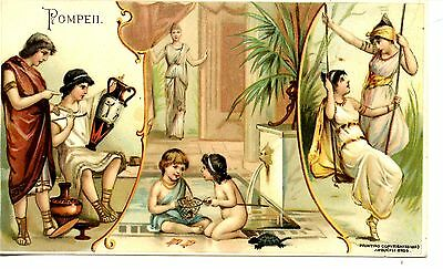 Pompeii Sports Pastimes-1893 Arbuckle Bros Coffee-Victorian Adv Trade Card