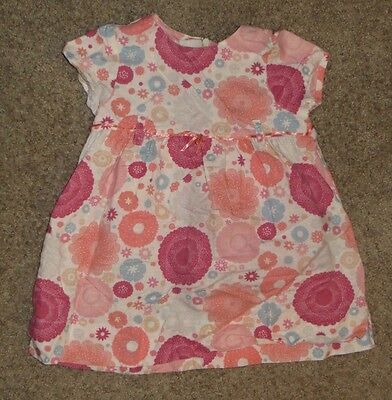 EUC Baby Gap Flower Floral Dress Size 6-12 6 12 Months