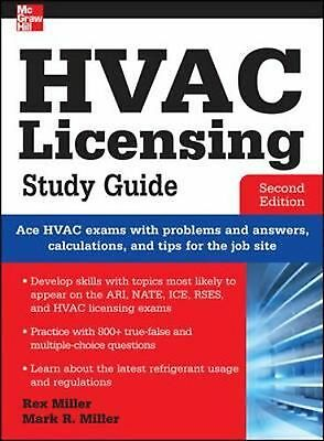 HVAC Licensing Study Guide, Second Edition by Rex Miller (English) Paperback Boo
