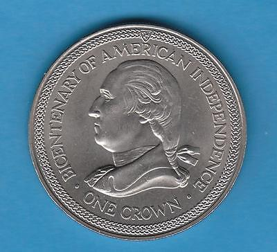 1976 Isle of Man One Crown- Commem. Bicentenary of American Independence