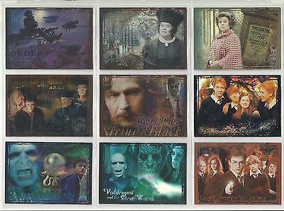 2007 Harry Potter: The Order of the Phoenix (Update Set) of 9 FOIL Cards (R1-R9)