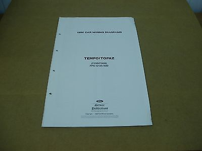 1990 ford tempo wiring diagram all wiring diagram 1993 Ford Thunderbird Wiring Diagram 1990 ford tempo owners manual $9 00 picclick 1991 ford f350 wiring diagram 1990 ford tempo wiring diagram