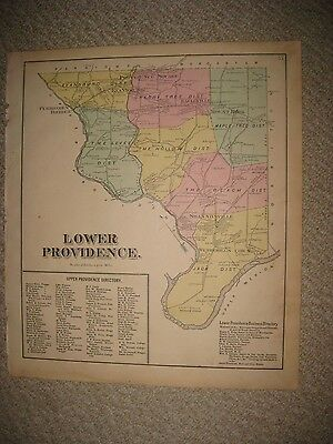 Antique 1871 Lower Providence Township Pennsylvania Montgomery County Map Rare
