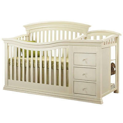 Sorelle Verona 4-in-1 Convertible Crib and Changer - French White