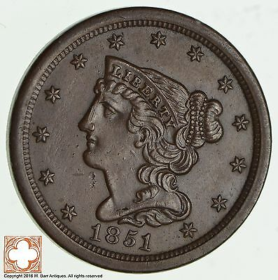 1851 Braided Hair Half Cent *2000
