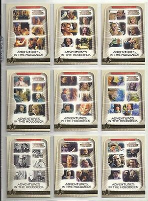 The Complete Star Trek Voyager ADVENTURES IN THE HOLODECK Set of 9 Cards (H1-H9)