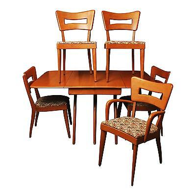 Mid Century Modern HEYWOOD WAKEFIELD DINING TABLE & CHAIRS SET wishbone vintage