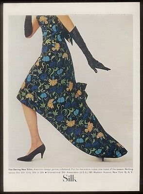 1962 silk flower print dress photo ISA vintage print ad