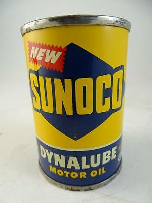 Vtg Advertising Tin Miniature Coin Still Bank Can Sunoco Dynalube Motor Oil 1951