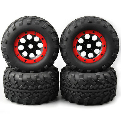 4PCS RC 1:8 Bigfoot Monster Truck Tires Wheel Rims For TRAXXAS Summit HSP Racing