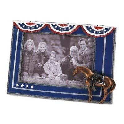 Trail of Painted Ponies Horse FALLEN HEROES Frame Red White Blue Photo Picture