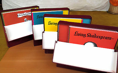 Living Shakespeare 24xLP in 4 Box Sets - Records Covers & Booklets all NEAR MINT