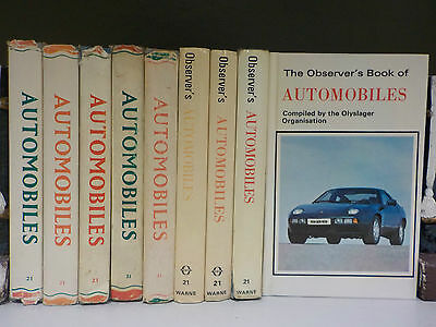 The Observer Book Of Automobiles - 9 Books Collection! (ID:45226)
