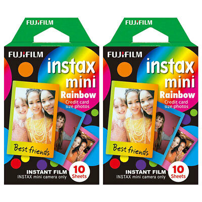 20 Shots Fuji Instax Mini Rainbow Film for Fujifilm Mini 8 7s & Mini 90, 50